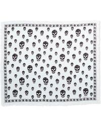 Alexander McQueen Skull-Print Chiffon Scarf - Lyst