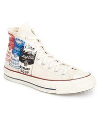 Converse Chuck Taylor All Star Andy Warhol Collection High Top Sneaker beige - Lyst