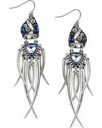 Sam Edelman Faux Carnelian Cluster Fringe Drop Earrings - Lyst