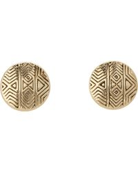 House Of Harlow Tholos Mosaic Stud Earrings - Lyst