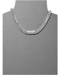 Lauren by Ralph Lauren Bar Harbor 18 Curb Chain W Smooth Bar Link W Large Fob Closure Necklace - Lyst