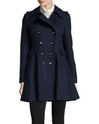 Via Spiga Double Breasted A-Line Coat - Lyst