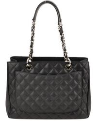 Chanel Authentic Pre-owned Black Quilted Caviar Small Flap Bag - Lyst
