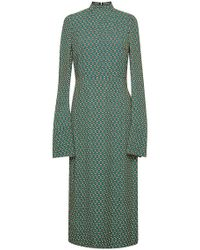 Marni Long Sleeved Printed Dress - Lyst