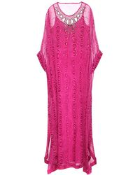 Diane von Furstenberg New Clare Embellished Silk Caftan Dress - Lyst