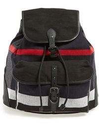Burberry 'Korbin' Check Print Canvas Backpack blue - Lyst