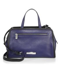 Marc By Marc Jacobs Luna Alaina Two-Tone Leather Satchel blue - Lyst
