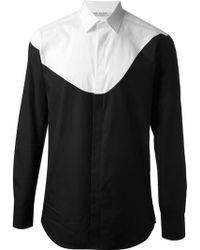 Neil Barrett Bi-colour Shirt - Lyst