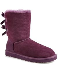 Ugg 'Bailey Bow - Exotic Scales' Boot purple - Lyst