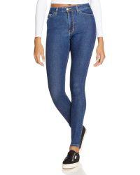 American Apparel | Stretch Denim Pencil Jeans In Dark Stone Washed Indigo | Lyst