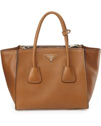 Prada City Leather Twin Pocket Tote Bag - Lyst
