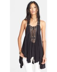 Free People 'New World Horizons' Sleeveless Jersey Tunic - Lyst