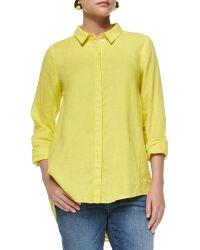Eileen Fisher Organic Handkerchief Linen Shirt - Lyst