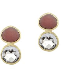 Cole Haan - Peach Quartz Drop Earrings - Lyst