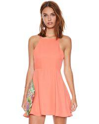 Nasty Gal Orange Liza Dress - Lyst