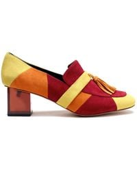 Joanne Stoker - Nico: Sixties Patchwork Loafer In Red/Yellow/Orange By - Lyst