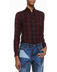 Etoile Isabel Marant Ipa Cotton Plaid Shirt - Lyst