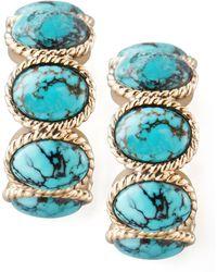 Stephen Dweck - Turquoise Cabochon Hoop Earrings - Lyst