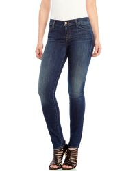J Brand Dark Wash Mid-Rise Skinny Jeans - Lyst