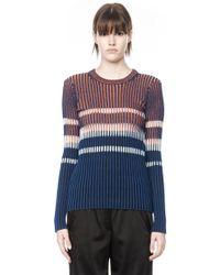 Alexander Wang Bleach Stripe Fitted Pullover - Lyst