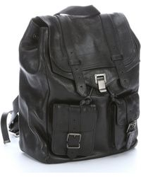 Proenza Schouler Black Leather Ps1 Buckle Detail Backpack - Lyst