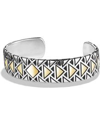David Yurman Cuff Bracelet With 18K Gold - Lyst