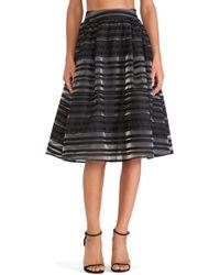 Joa Striped Flocking Skirt - Lyst