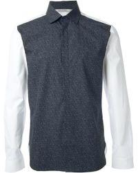 Neil Barrett Colour Block Shirt - Lyst