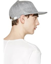 Attachment - Grey Linen Cap - Lyst