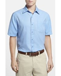 Nat Nast 'Havana' Regular Fit Short Sleeve Silk & Cotton Pique Sport Shirt - Lyst