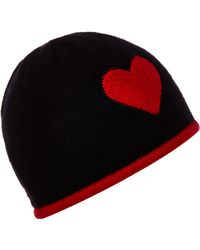 Boutique Moschino - Knitted Beanie with Heart Design - Lyst