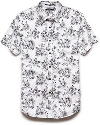 Lyst - Forever 21 Floral Print Shirt in Gray for Men