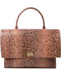 Givenchy Snake Print Leather Satchel - Lyst