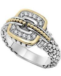 Lagos | 'cushion' Small Diamond Ring | Lyst