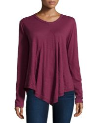 Jethro - Long-sleeve Scoop-neck Tunic W/front Gusset - Lyst
