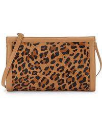 French Connection Cosmic Leopard-Print Calf Hair Clutch - Lyst
