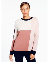 Kate Spade Colorblock Slouchy Sweater pink - Lyst