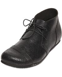 Peter Non - Crackled Leather Derby Shoes - Lyst