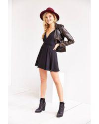 Sparkle & Fade Strappy Chiffon Skater Dress - Lyst