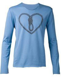 Lucien Pellat Finet Twist Heart Tshirt - Lyst