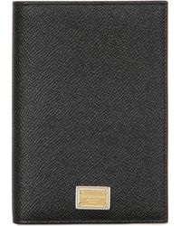 Dolce & Gabbana | Dauphine Leather Passport Case | Lyst