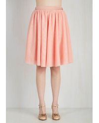 ModCloth | Tulle Of The Trade Skirt In Rose | Lyst
