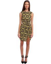 Versace Printed Jersey Dress W Rouching - Lyst