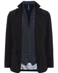 Hugo Boss Navid Layered Coat - Lyst