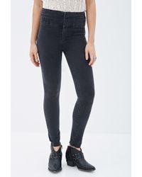 Forever 21 High-Rise Skinny Jeans - Lyst