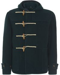 Burberry Prorsum Wool And Cashmere Duffle Coat - Lyst