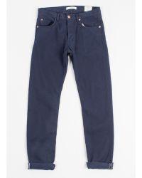 Billy Reid Corduroy Slim Jean blue - Lyst