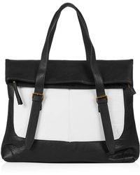 Topshop Buckle Folding Top Luggage Bag - Lyst