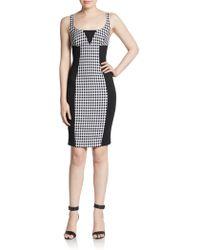 Versace Colorblock Gingham-Print Dress black - Lyst