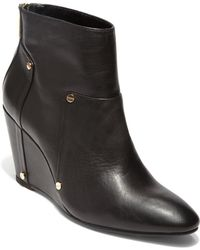 Dv By Dolce Vita Pavin Leather Wedge Boots - Lyst